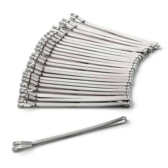Silver Bobby Pins